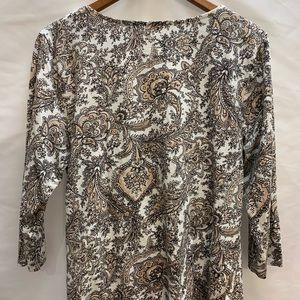 Talbots Tops - Talbots paisley nude stretch faux wrap shirt XL